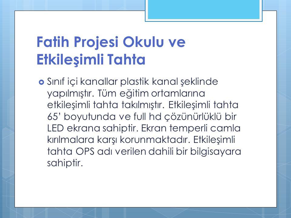Fatih Projesi Okulu ve Etkileşimli Tahta