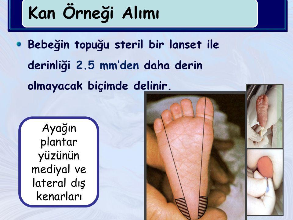 Ayağın plantar yüzünün mediyal ve lateral dış kenarları