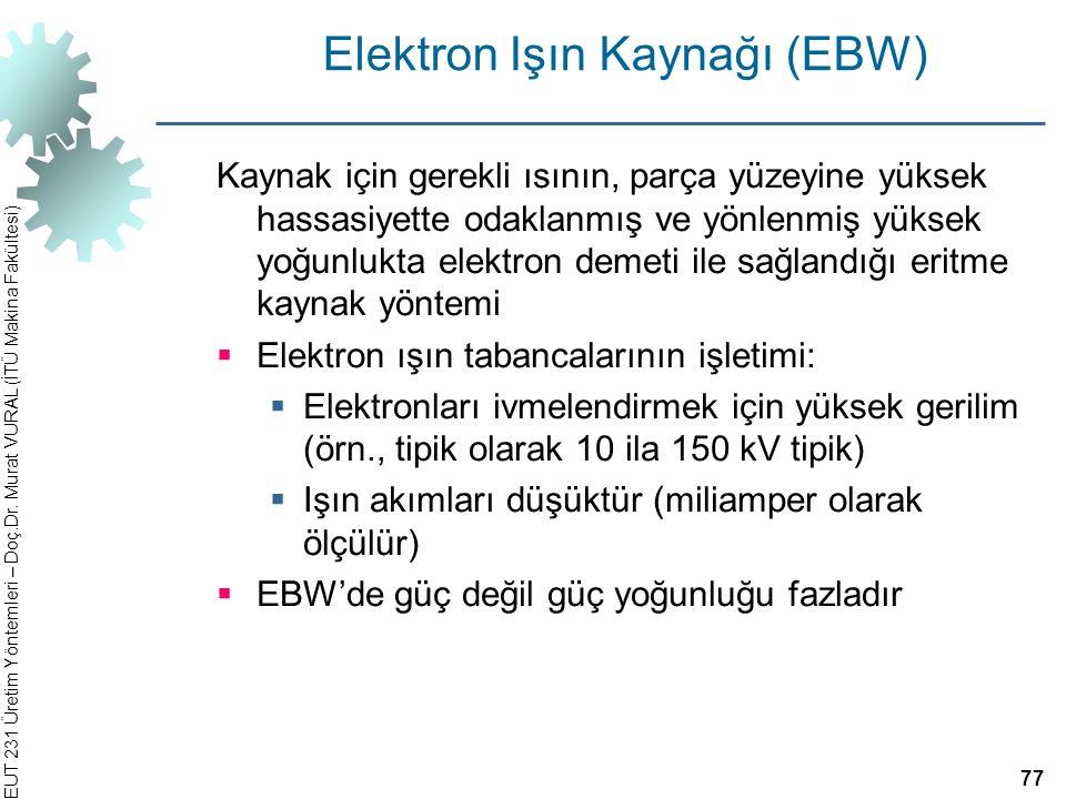 Elektron Işın Kaynağı (EBW)