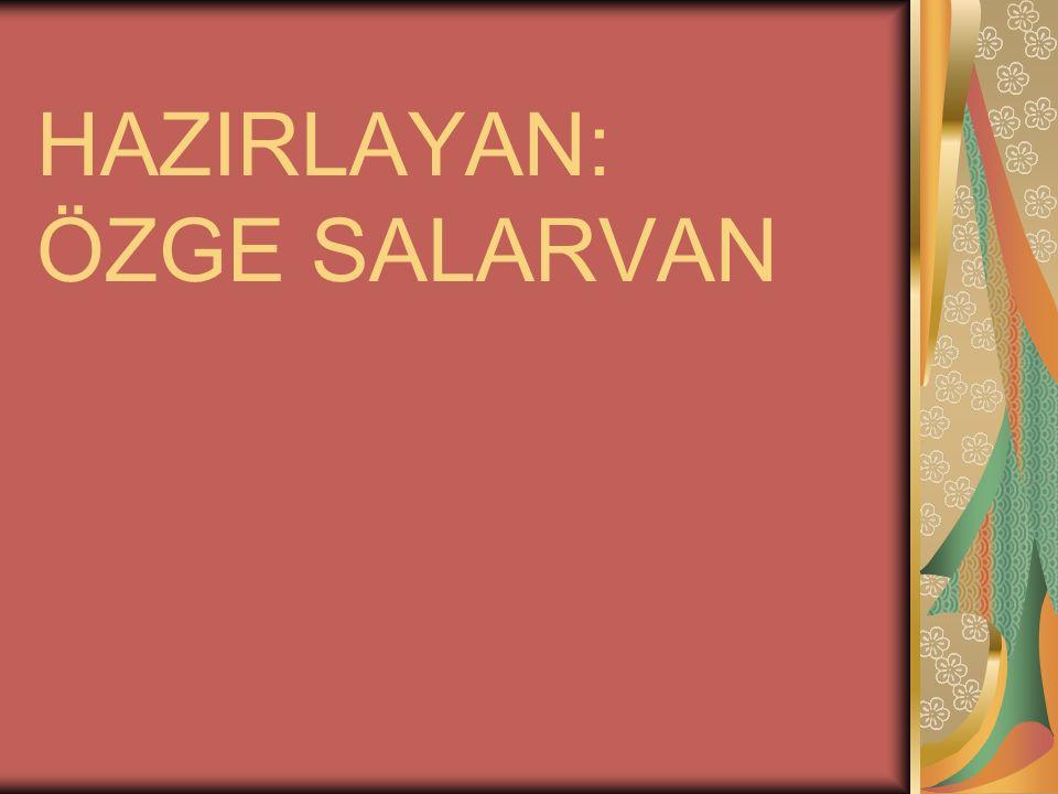 HAZIRLAYAN: ÖZGE SALARVAN