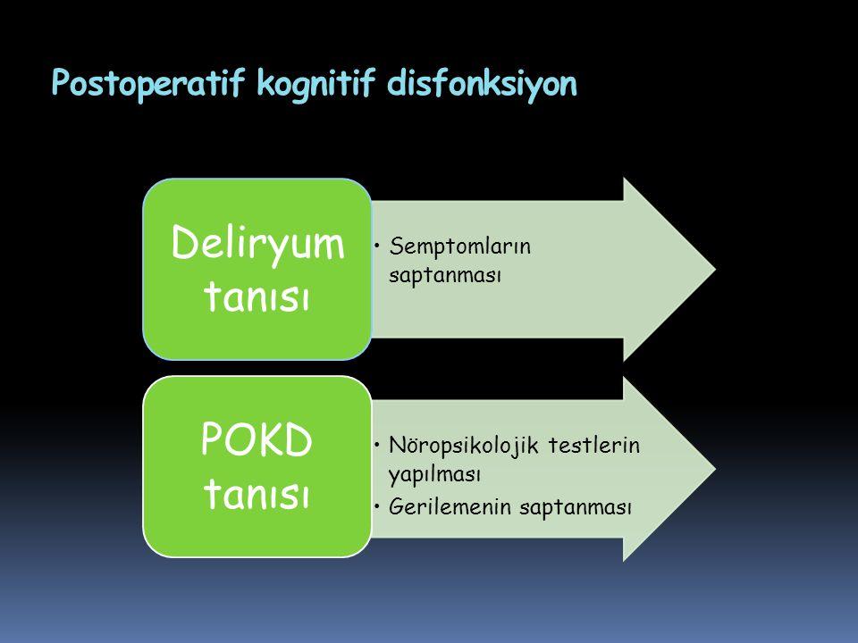Postoperatif kognitif disfonksiyon