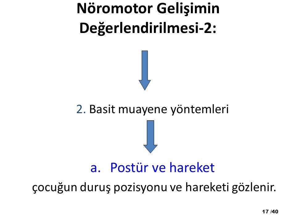 Nöromotor Gelişimin Değerlendirilmesi-2: