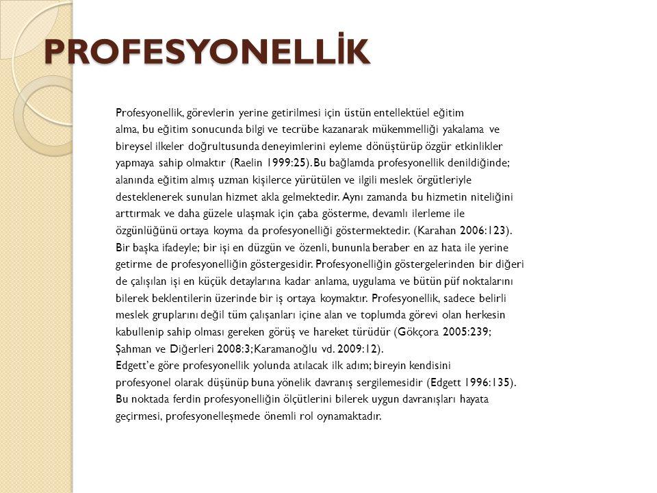 PROFESYONELLİK