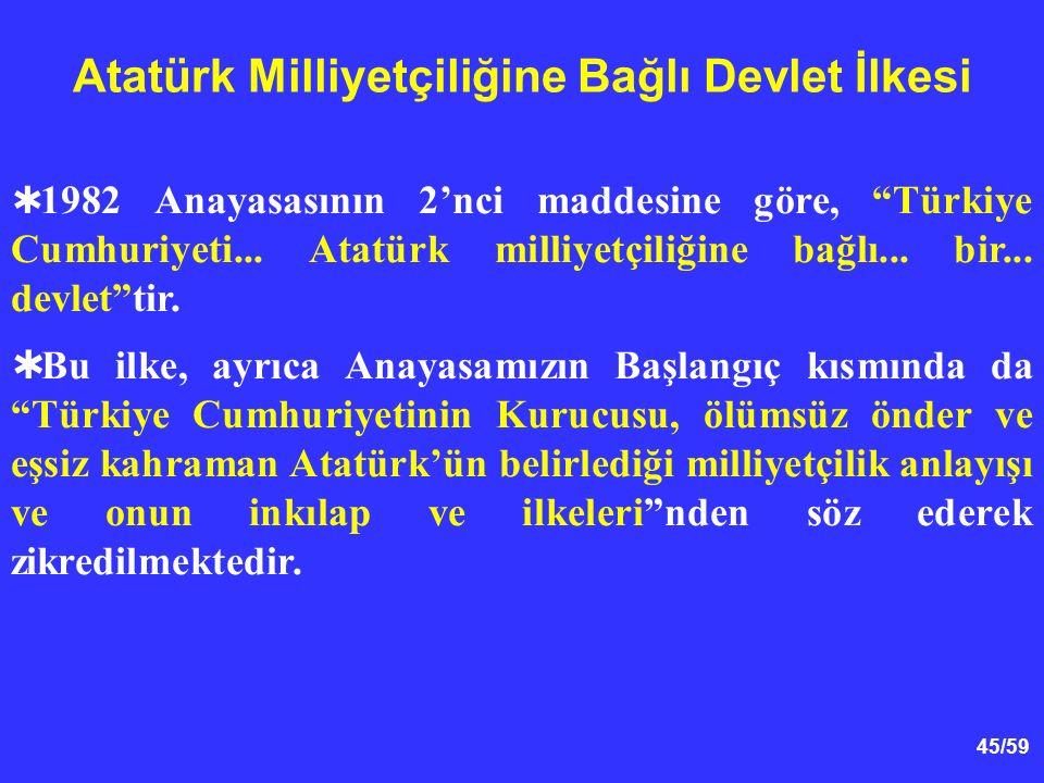 Atatürk Milliyetçiliğine Bağlı Devlet İlkesi
