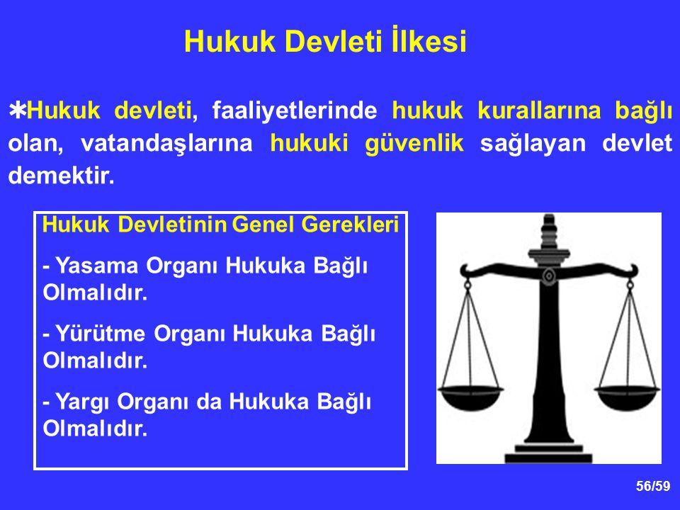 Hukuk Devletinin Genel Gerekleri