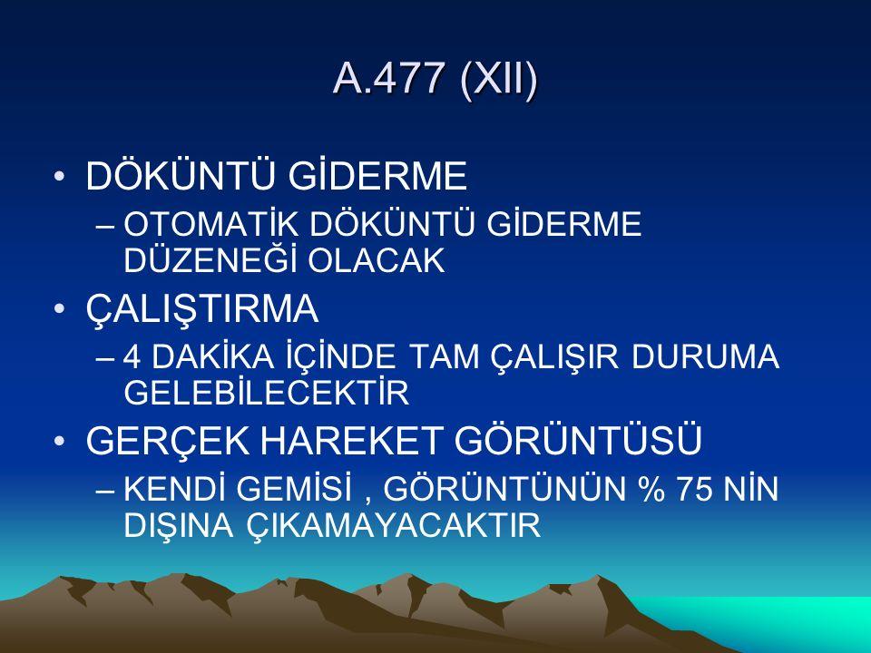A.477 (XII) DÖKÜNTÜ GİDERME ÇALIŞTIRMA GERÇEK HAREKET GÖRÜNTÜSÜ