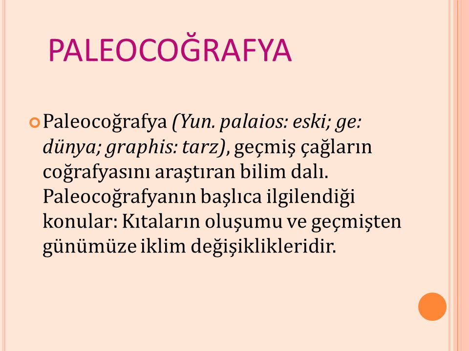 PALEOCOĞRAFYA