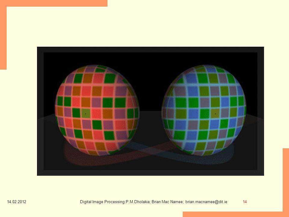 14.02.2012 Digital Image Processing:P.M.Dholakia; Brian Mac Namee; brian.macnamee@dit.ie