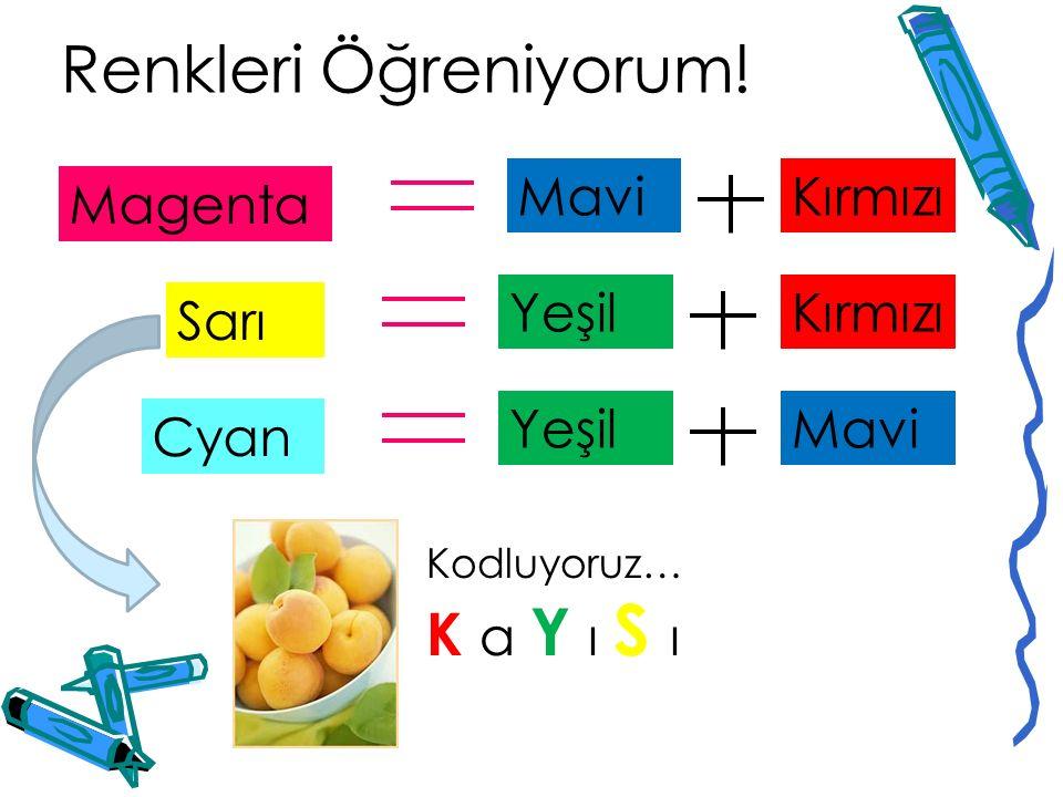 Renkleri Öğreniyorum! K a Y ı S ı Mavi Kırmızı Magenta Yeşil Kırmızı