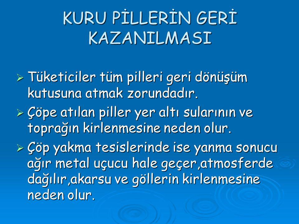 KURU PİLLERİN GERİ KAZANILMASI