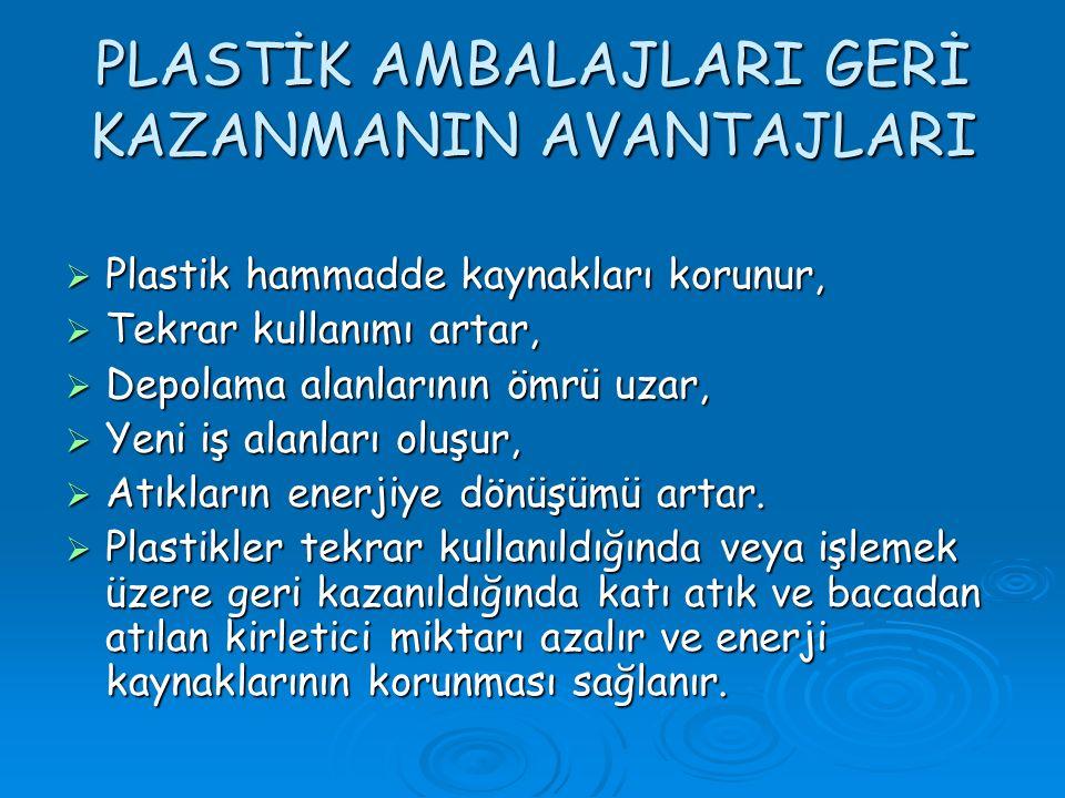 PLASTİK AMBALAJLARI GERİ KAZANMANIN AVANTAJLARI