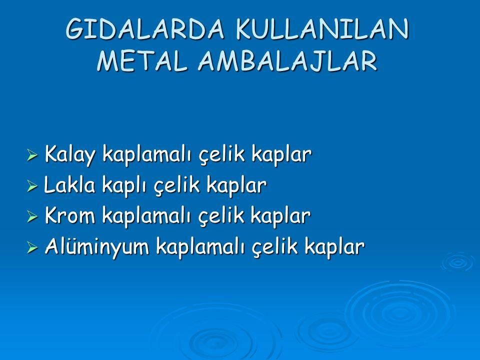 GIDALARDA KULLANILAN METAL AMBALAJLAR