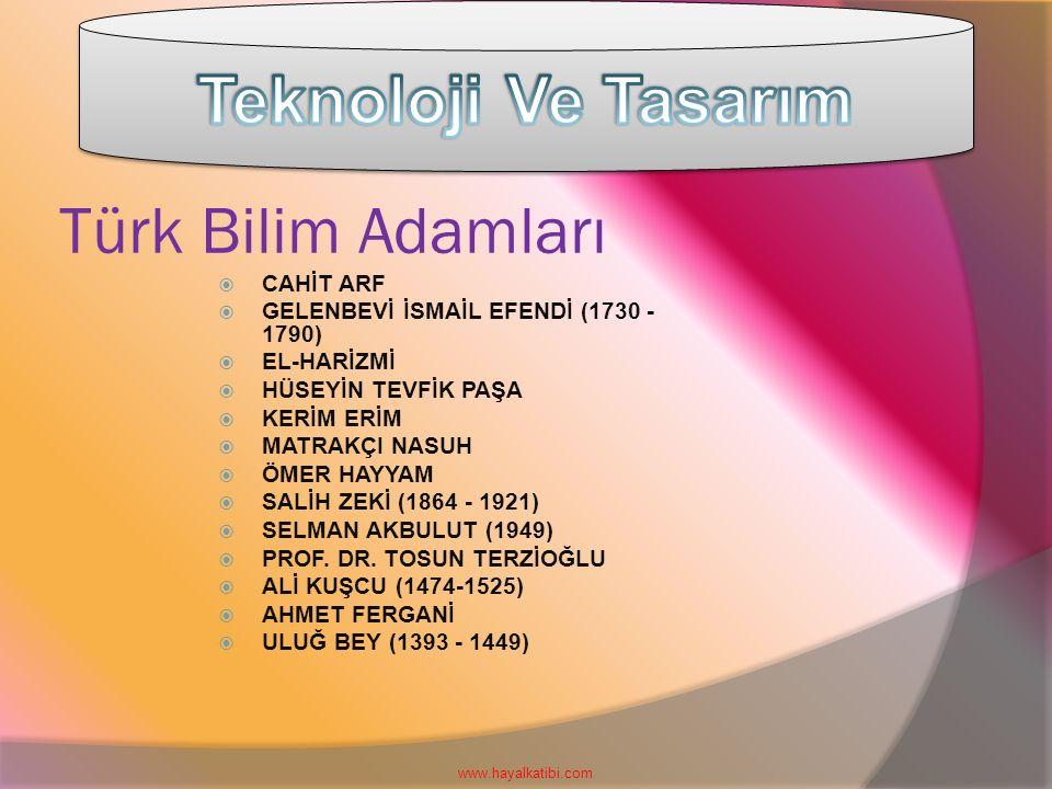 Teknoloji Ve Tasarım Türk Bilim Adamları CAHİT ARF