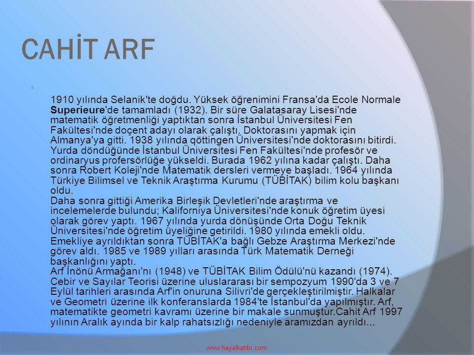 CAHİT ARF www.hayalkatibi.com