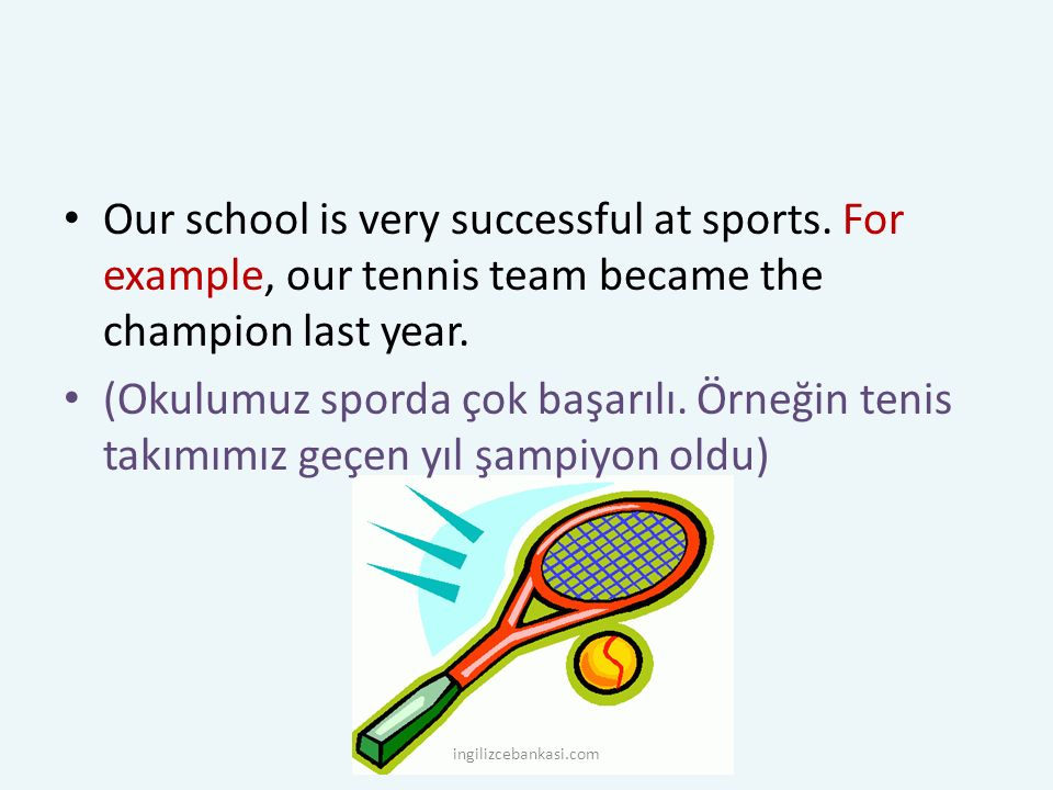 Our school is very successful at sports