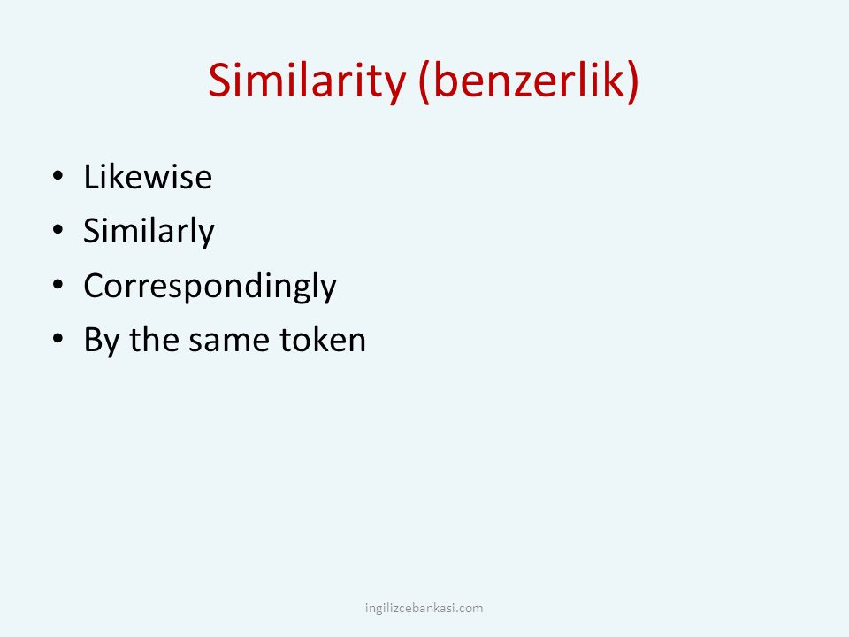 Similarity (benzerlik)