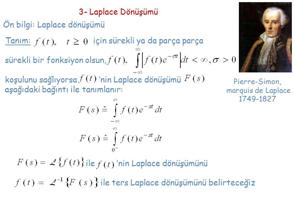Ön bilgi: Laplace dönüşümü