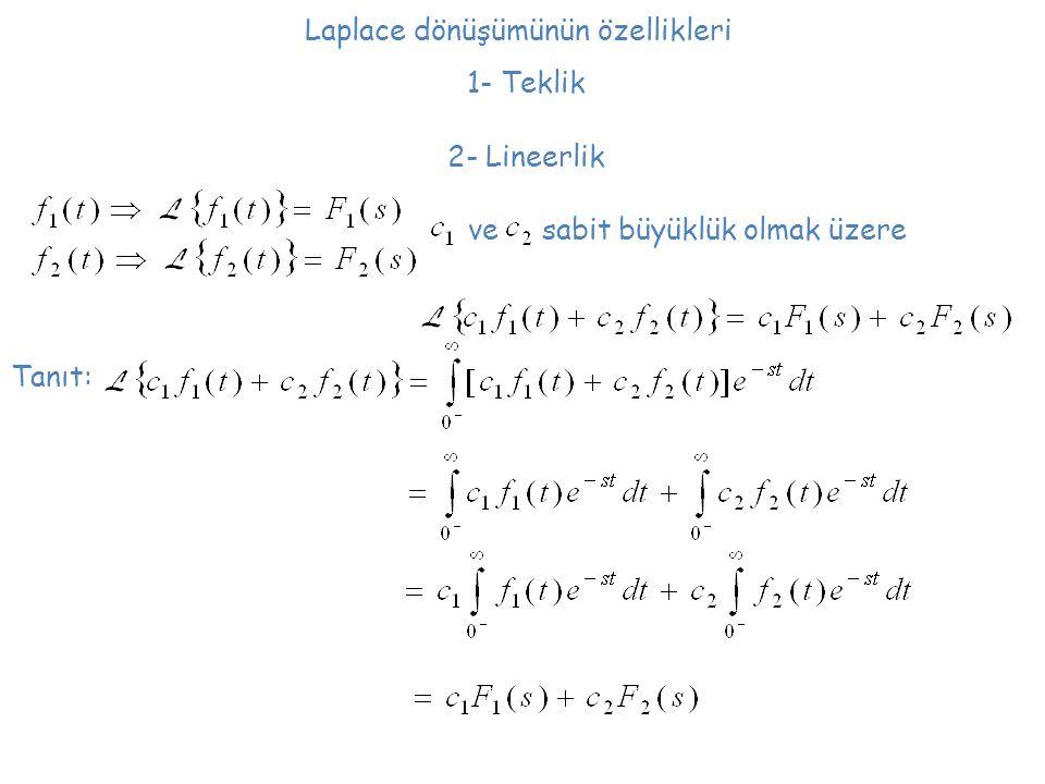 Laplace dönüşümünün özellikleri