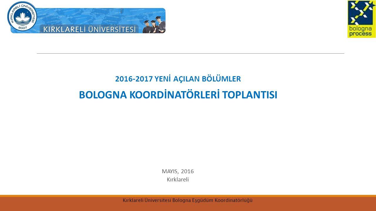 BOLOGNA KOORDİNATÖRLERİ TOPLANTISI