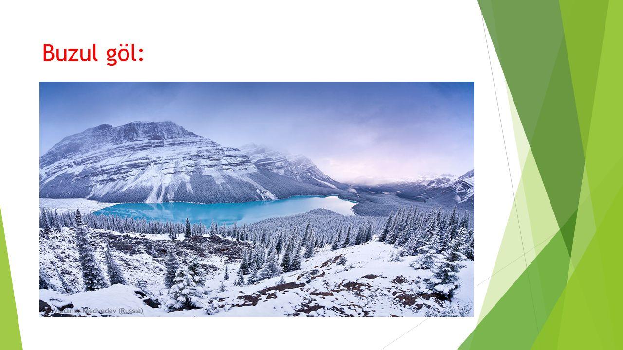 Buzul göl: