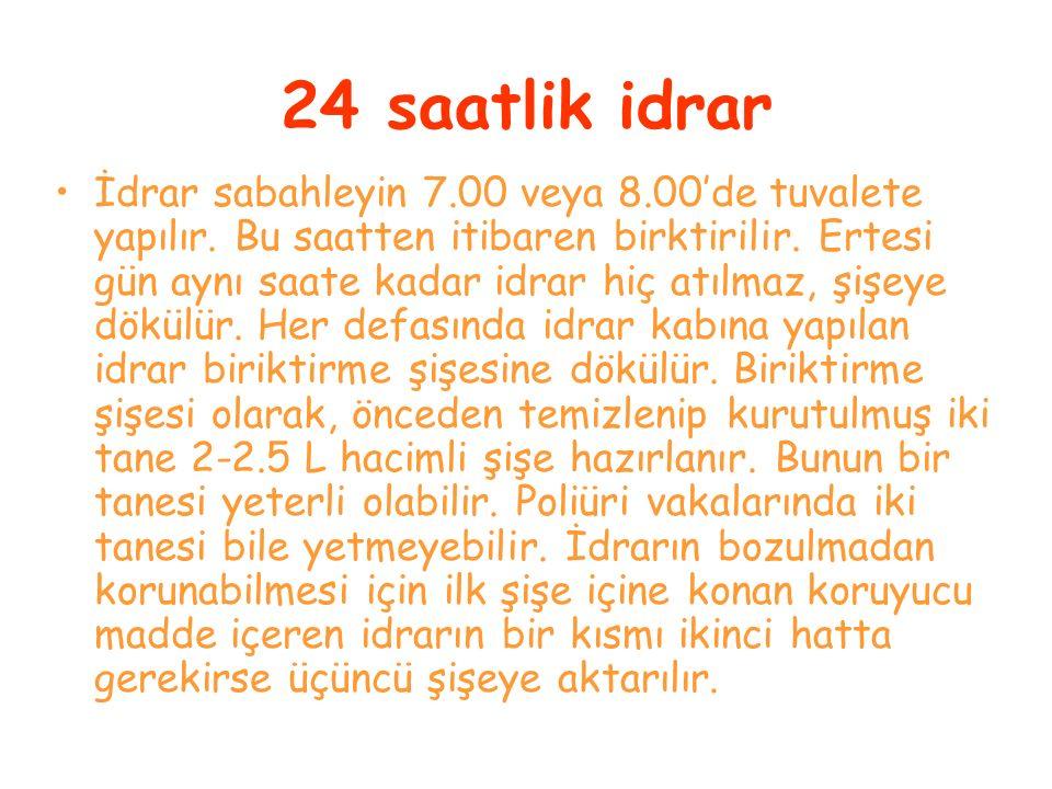 24 saatlik idrar