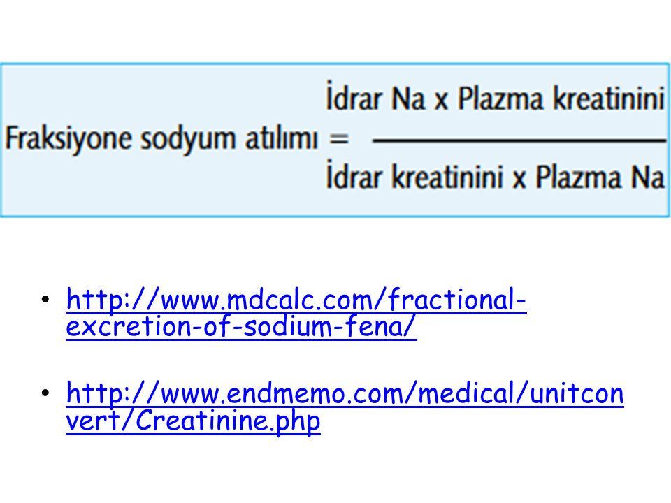 http://www.mdcalc.com/fractional-excretion-of-sodium-fena/ http://www.endmemo.com/medical/unitconvert/Creatinine.php.