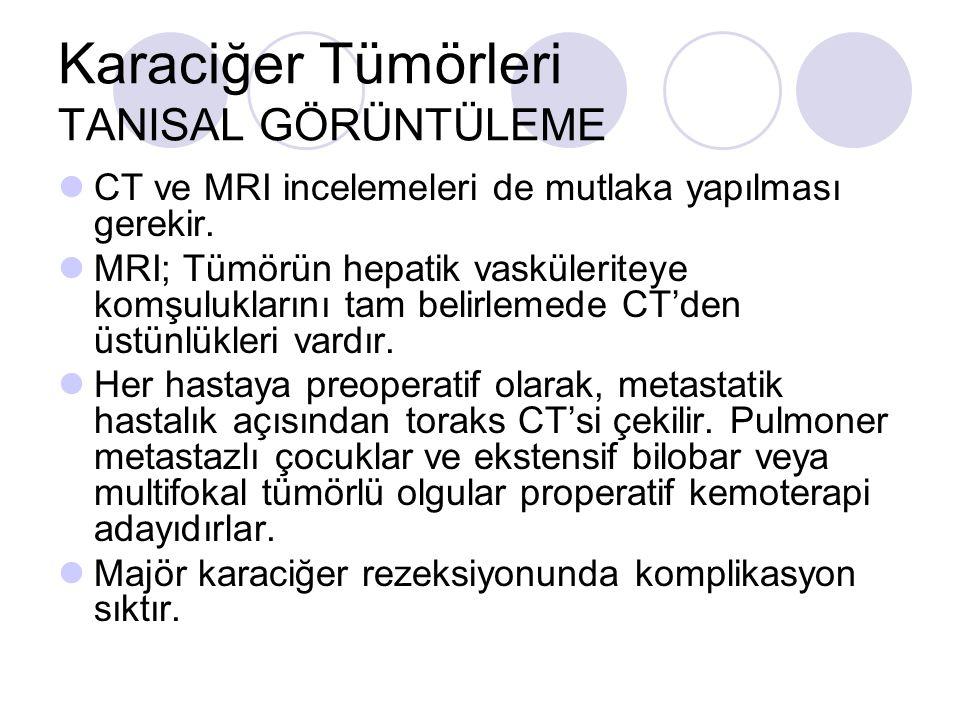 Karaciğer Tümörleri TANISAL GÖRÜNTÜLEME