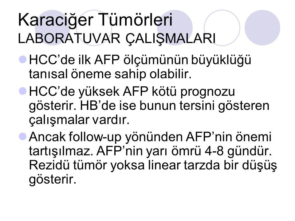 Karaciğer Tümörleri LABORATUVAR ÇALIŞMALARI