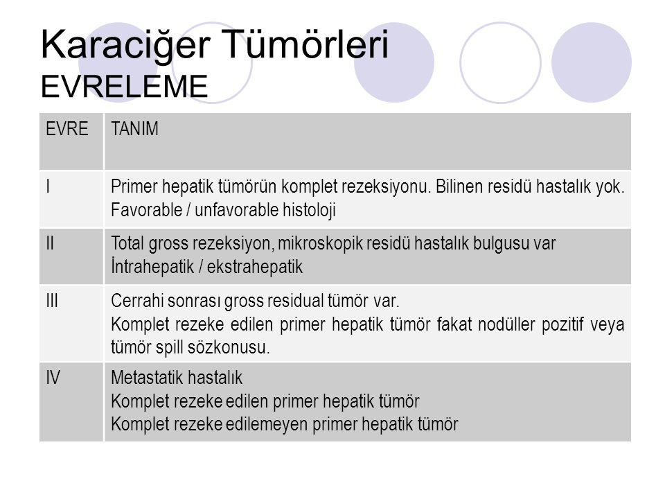 Karaciğer Tümörleri EVRELEME