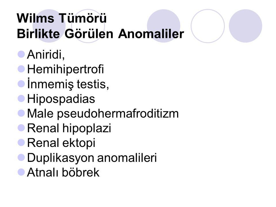 Wilms Tümörü Birlikte Görülen Anomaliler