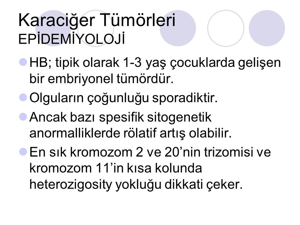 Karaciğer Tümörleri EPİDEMİYOLOJİ