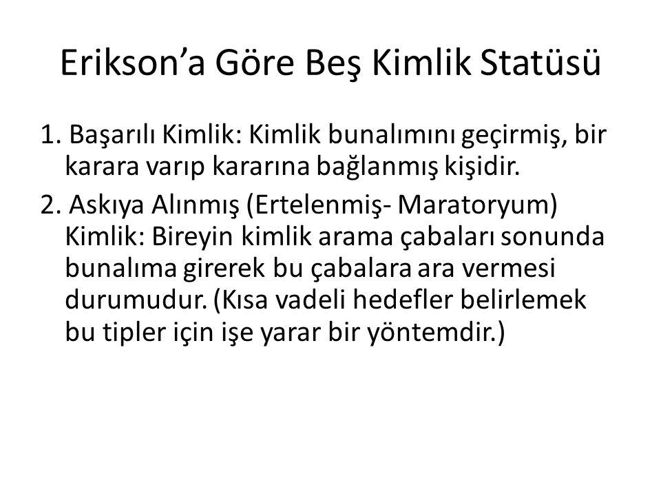 Erikson'a Göre Beş Kimlik Statüsü