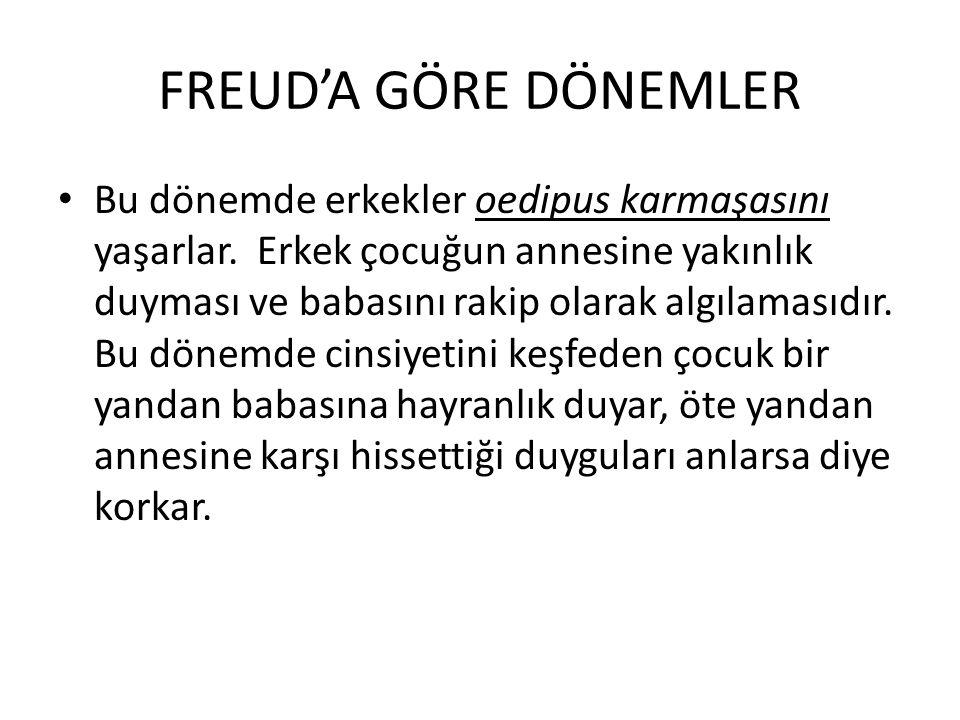 FREUD'A GÖRE DÖNEMLER