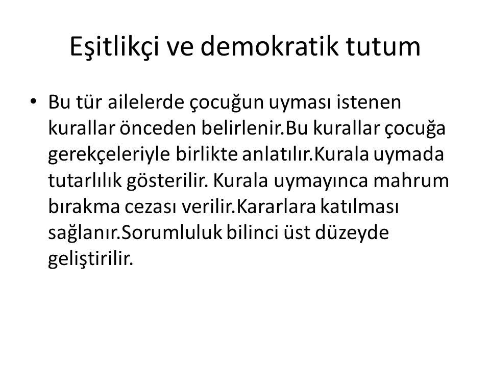 Eşitlikçi ve demokratik tutum