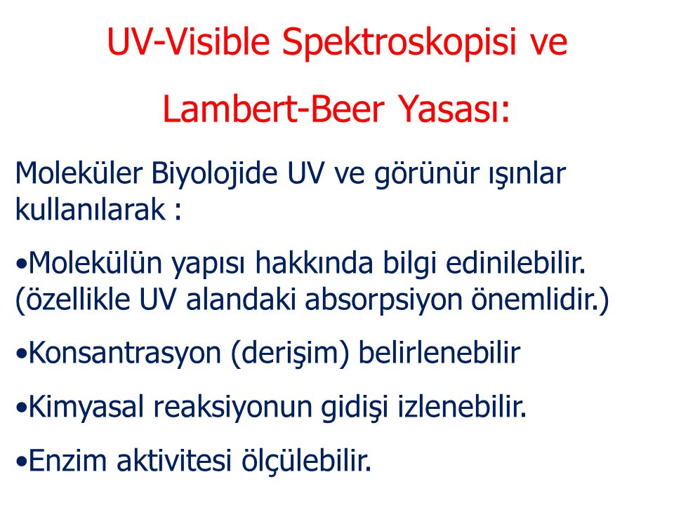UV-Visible Spektroskopisi ve