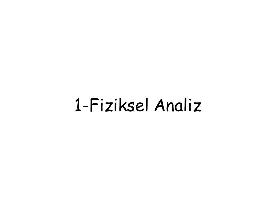 1-Fiziksel Analiz