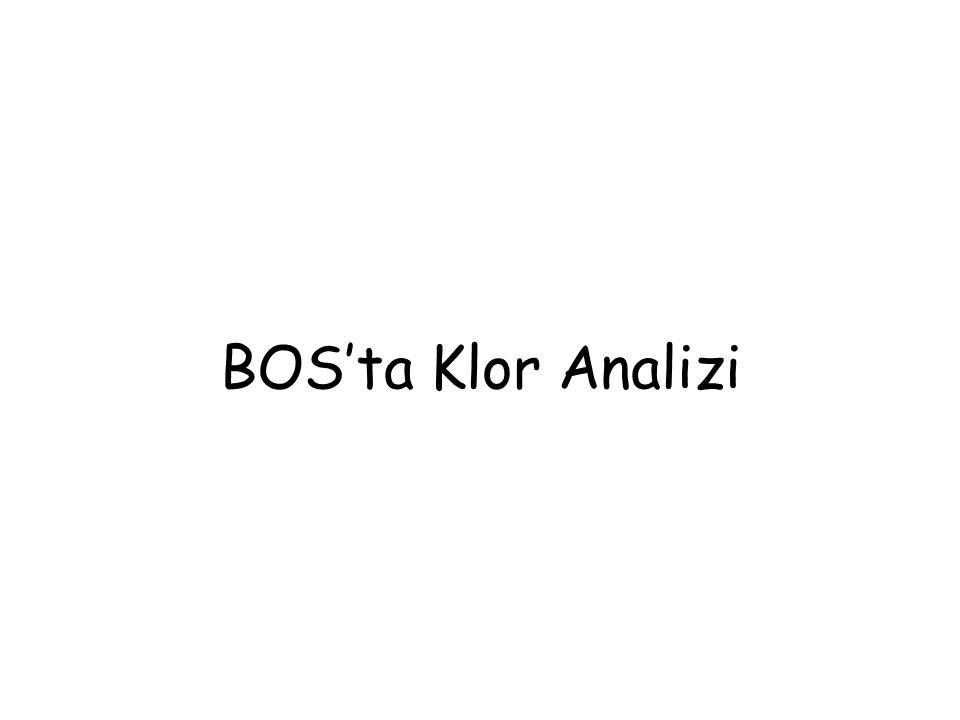 BOS'ta Klor Analizi