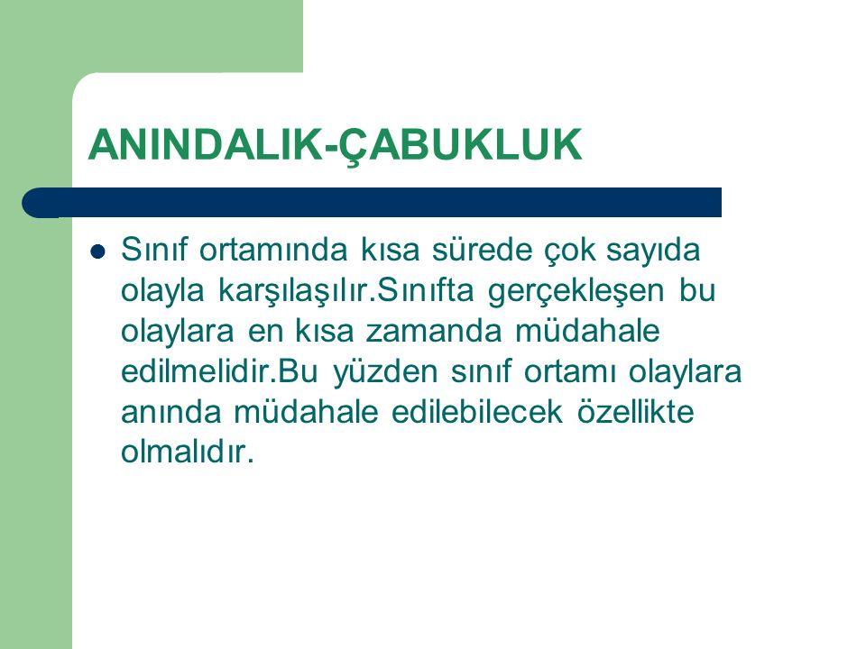 ANINDALIK-ÇABUKLUK