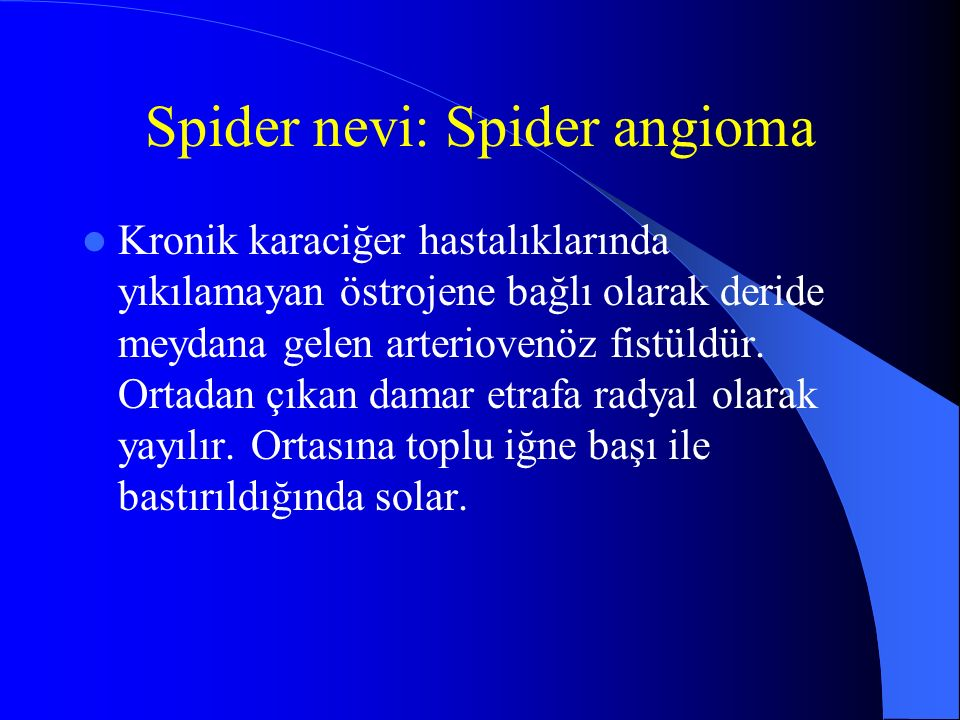 Spider nevi: Spider angioma