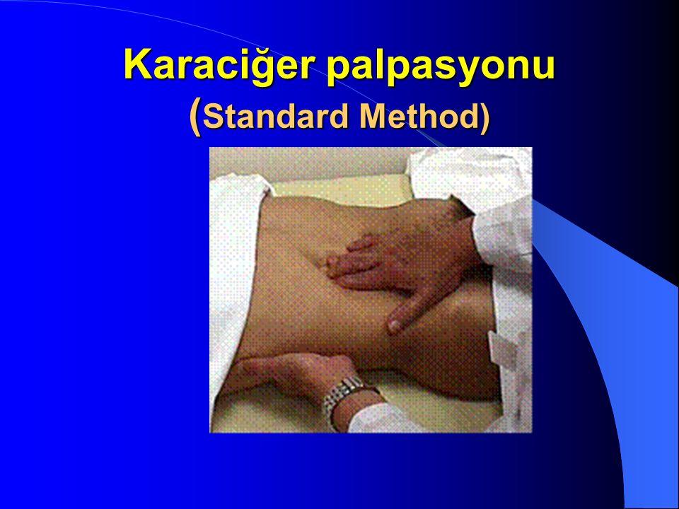 Karaciğer palpasyonu (Standard Method)