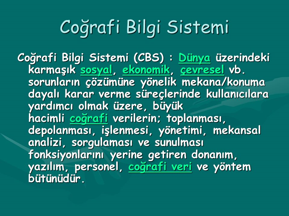 Coğrafi Bilgi Sistemi