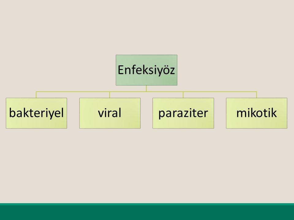 Enfeksiyöz bakteriyel viral paraziter mikotik