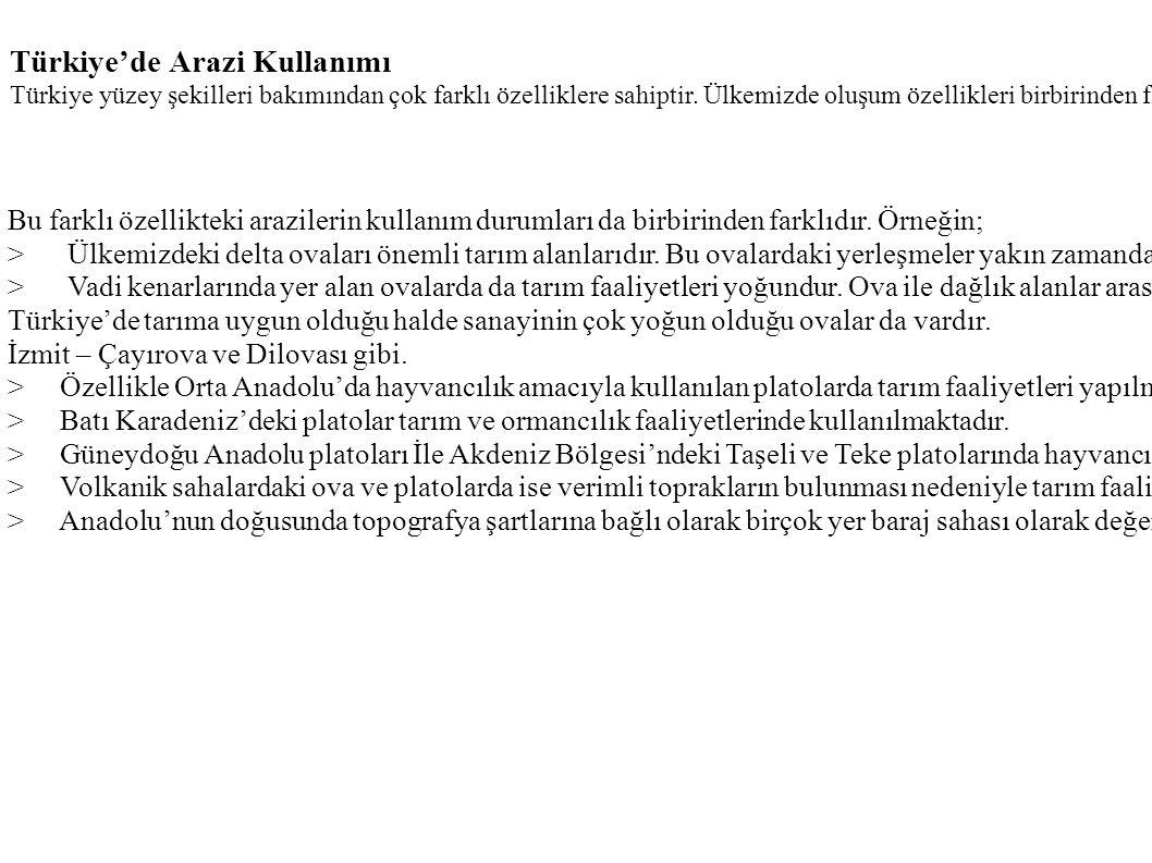Türkiye'de Arazi Kullanımı
