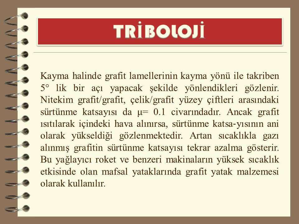 TRİBOLOJİ