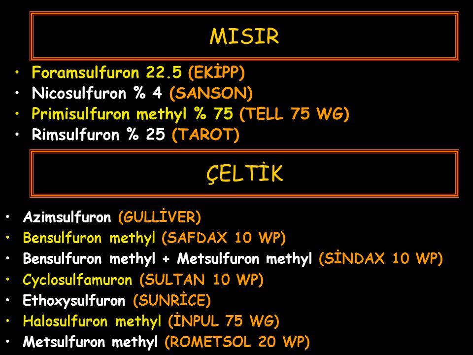 MISIR ÇELTİK Foramsulfuron 22.5 (EKİPP) Nicosulfuron % 4 (SANSON)