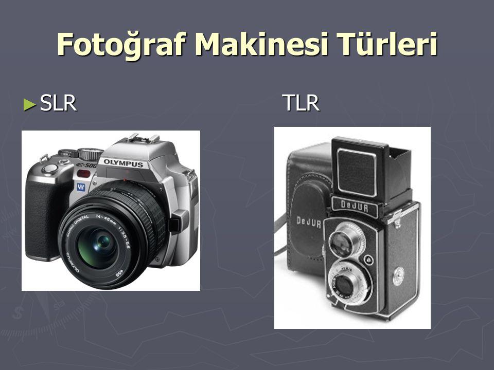Fotoğraf Makinesi Türleri