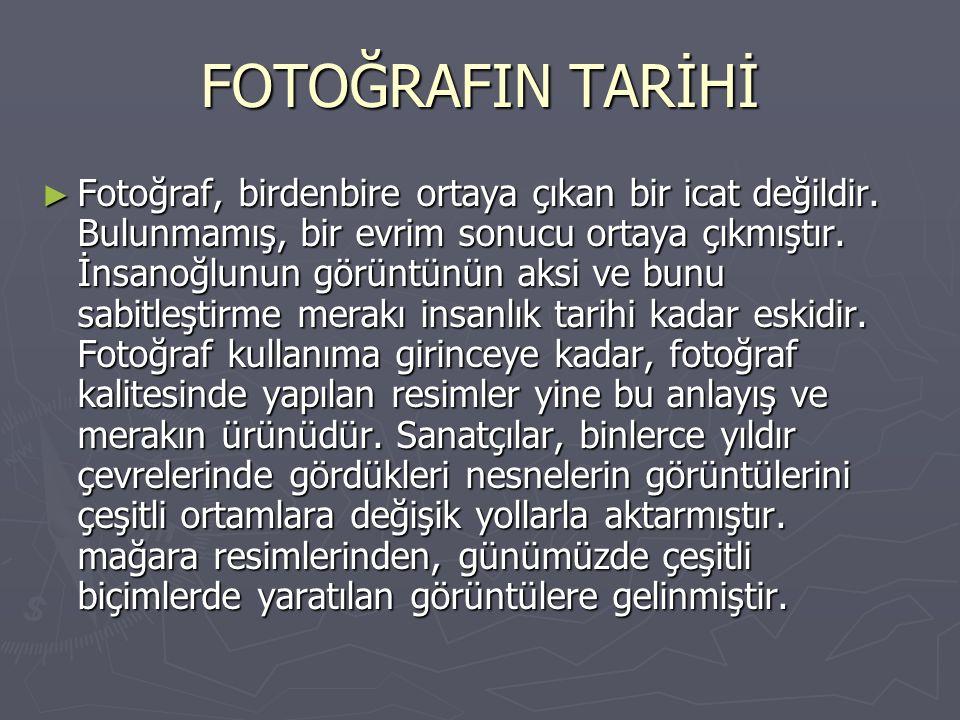 FOTOĞRAFIN TARİHİ
