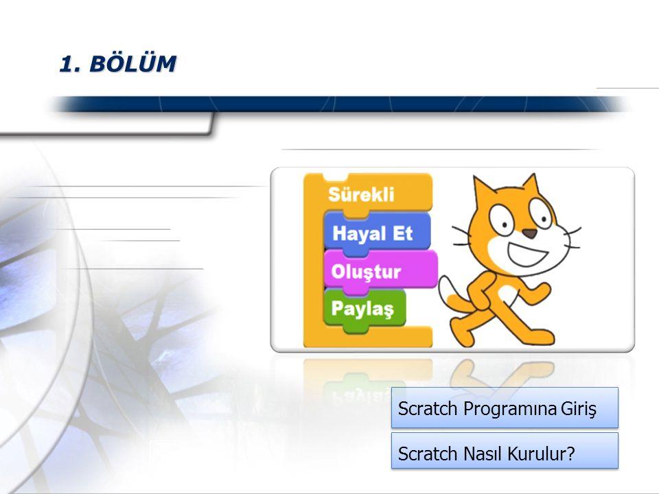 1. BÖLÜM Scratch Programına Giriş Scratch Nasıl Kurulur