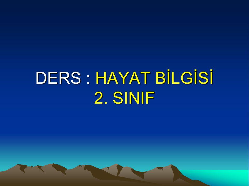 DERS : HAYAT BİLGİSİ 2. SINIF