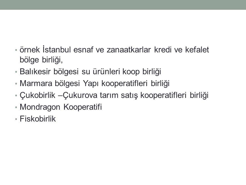 örnek İstanbul esnaf ve zanaatkarlar kredi ve kefalet bölge birliği,